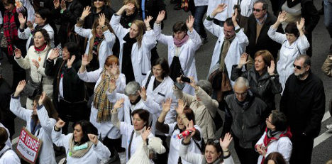 Spanish doctors: 'Your health is being sold'