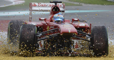Alonso sees red after 200th GP error