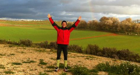Spanish man takes five-year charity stroll