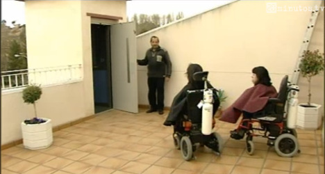 Elevator row traps disabled sisters at home