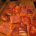 The Spanish do like their weird and wonderful food, but to our knowledge they don't have an appetite for tables or Iberians. Tabla de Ibéricos is a selection of Spanish cold meats found in many restaurants.Photo: deramaenrama/Flickr