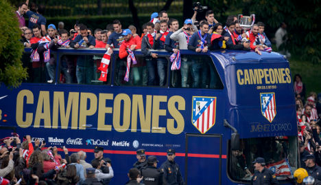 Victorious Atletico fans party in Madrid