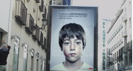 'Hidden' Spanish child abuse ad goes viral