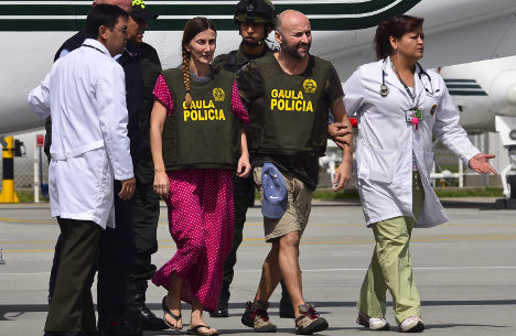 Kidnapped Spaniards freed in Colombia
