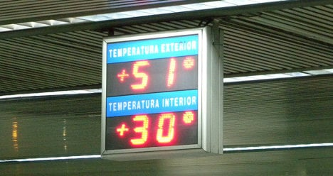 Street thermometers in Spain '99 percent wrong'