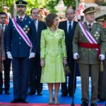 Frail king attends low-cost military ceremony