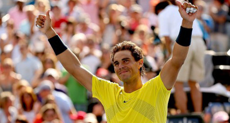 Nadal routs Raonic to take third Canada title