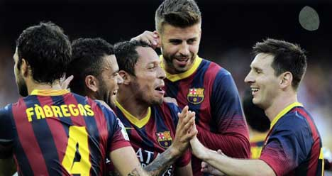 Magnificent seven for Barça as Real leave it late