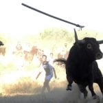 Bull takes on village in savage Spanish festival