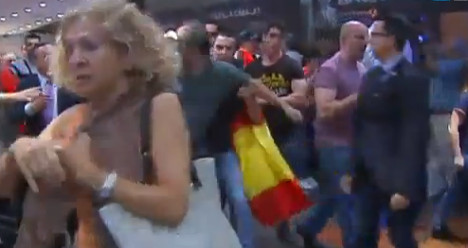 VIDEO: Fascists attack Madrid's Catalan centre