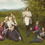 Timeless femininity: Everyday glamour set in the lush rolling hills of the British countryside defines Marks and Spencer's ultra feminine Per Una range, with soft tailoring and a contrasting mix of bright and muted colours.Photo: Annie Leibovitz for Marks & Spencer