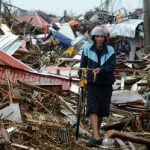 'The typhoon has left the island with nothing'