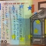 Nine banknotes showing how angry Spaniards are