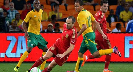 South Africa shock world champions Spain
