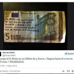 Dear Mr. Botín (Santander Bank CEO), I'm aware that  one day this bank note will end up in your hands, so go to hell!Photo: Twitter