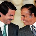 """José María Aznar: Spain's 1996 general election marked not only the return to power of a right-wing leader but also the reappearance of the presidential """"bigote"""", or moustache. Rumour has it Aznar grew his whiskers to conceal his paralized upper lip. Spain's former PM now sports a five o'clock shadow where his  mostacho once was.Photo: Daniel Garcia/AFP"""