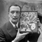 """Salvador Dalí: a surrealist artist with a rather surreal moustache. The Catalan painter, who described his pointy facial hair as """"antennae with which to trap art"""", used date sugar to sharpen the ends and also attract """"clean flies"""" as he put it.Photo: STF/AFP"""