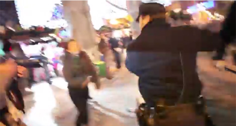 VIRAL VIDEO: Cops hit female pro-choicers