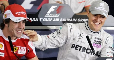 'Get well soon, Michael': Alonso to Schumacher