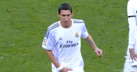 Real Madrid clears Di María over 'lewd' gesture