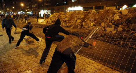 Rioters trash city in traffic plans row