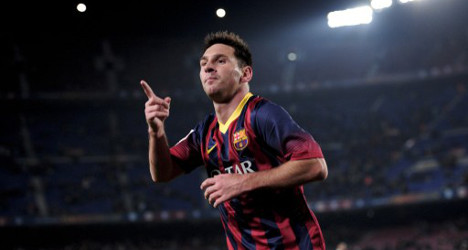 Welcome back: Messi scores twice in 4-0 win