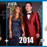 Picture showing the 'evolution' of Messi's fashion sense at big sporting events.