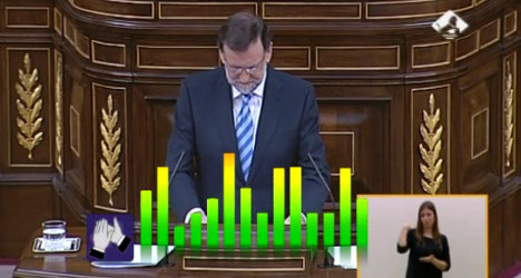 Spanish PM's speech busts 'applause-o-meter'