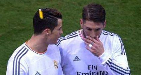 Atlético fined after fan hits Ronaldo with lighter