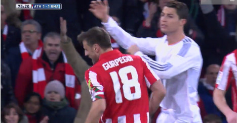 Real's Ronaldo banned for three league games
