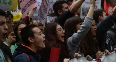 Spain's students strike against education cuts