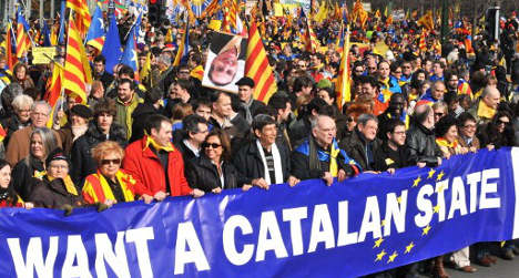 Catalans join forces with EU separatists