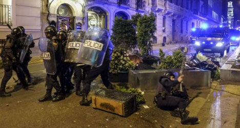 Protester accused of attempted murder of cop