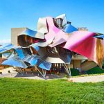 HOTEL MARQUES DE RISCAL, Elciego, Basque Country (€€€): This luxury hotel is a futuristic wine chateau designed by Frank O Gehry whose trademark style can be seen here and at his other projects like the Guggenheim Bilbao.Photo: www.hotel-marquesderiscal.com