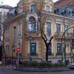 Around the corner from Madrid's Calle Serrano is Calle de José Ortega y Gasset. Prices here are even more expensive at an average €6,008 per square metre (pictured is the Palacio de Saldaña at number 32).