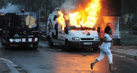 Protesters clash with police over squat eviction