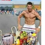 """""""I am Ronaldo, watch me shop!"""" Here CR7 gives a whole new meaning to the idea of a domestic god.Photo: Twitter"""