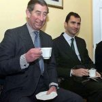 2000: Prince Charles and the Prince Felipe have a 'cuppa' during a visit to the UK.Photo: The Sun/Pool/AFP
