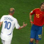 GREAT EXPECTATIONS: Spain consolidated their reputation as the World Cup's biggest underachievers when they fell short yet again in Germany 2006. This time it was France, led by the graceful footballing god Zinedine Zidane, who beat the Spaniards 3-1. However, a legendary generation of young footballers were finding their spot in the squad, including Casillas, Ramos, Fabregas, Xavi, Torres and Villa. Photo: MICHAEL KAPPELER / DDP / AFP