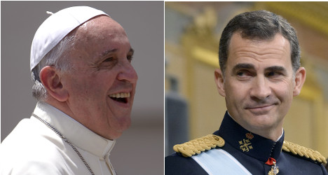 New king visits Pope on first overseas trip