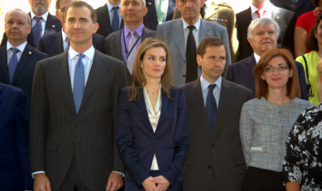 Spain's new king and queen make royal bow