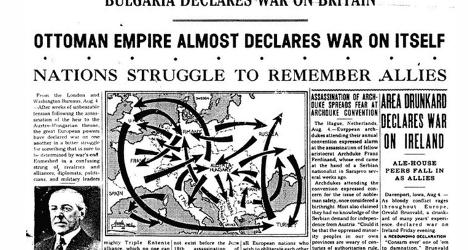 History fail: Paper runs WWI satire story as fact
