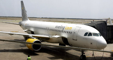 Vueling jet catches fire after landing in Italy