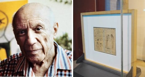 France releases unseen Picasso 'doodle' letter