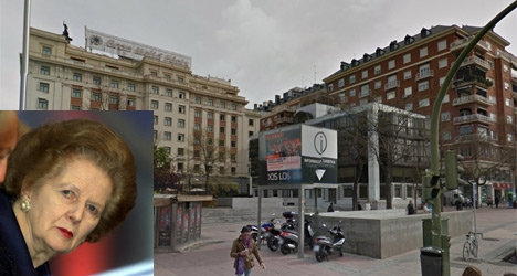 Spain's Thatcher square defaced by 'Brits'