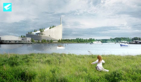 The waste plant will send giant smoke rings into the air for every quarter tonne of CO2