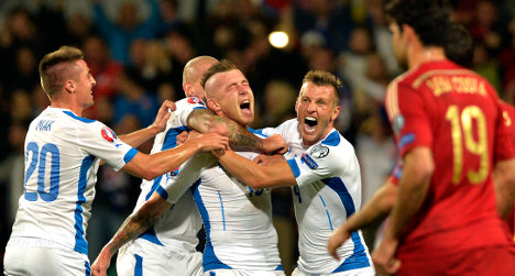 Slovakia down Spain 2-1 in famous victory