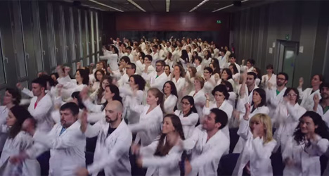 Spanish scientists dance for cancer awareness