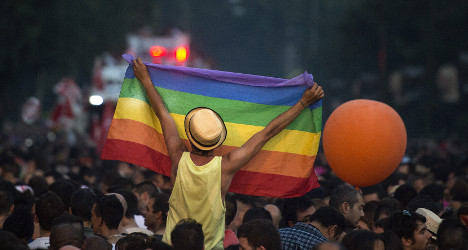 Gay teens pelted with stones outside school