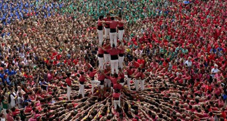 In Pictures: Catalonia's amazing human towers